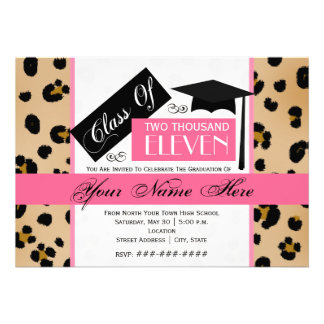 Class of 2011 Leopard Print & Pink Graduation Announcement