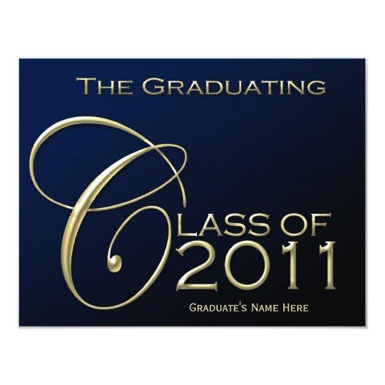 Class of 2011 Navy Blue Graduation Announcement