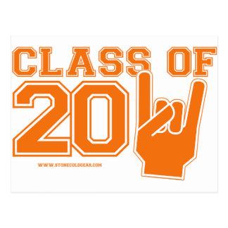 Class Of 2011 Orange and White Postcard