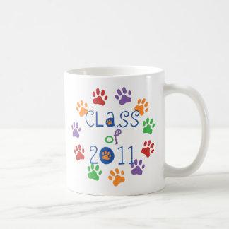 Class of 2011 Paw Prints Coffee Mug