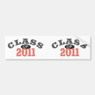 Class Of 2011 Peach Bumper Sticker