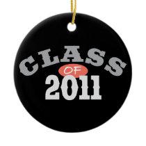Class Of 2011 Peach Ceramic Ornament