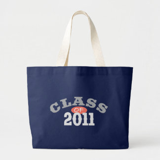 Class Of 2011 Peach Large Tote Bag