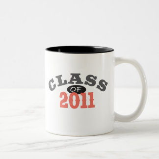 Class Of 2011 Peach Two-Tone Coffee Mug