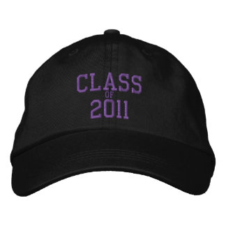 Class of 2011 Purple Embroider Black Baseball Cap