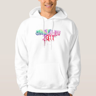 Class Of 2011 Ripped 80's Plaid Logo Hoodie