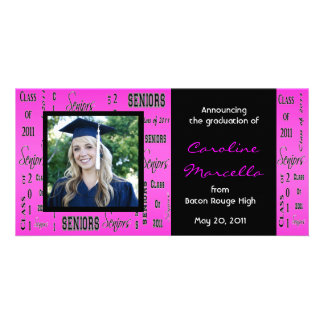 Class of 2011 Seniors Hot Pink Grad Announcement