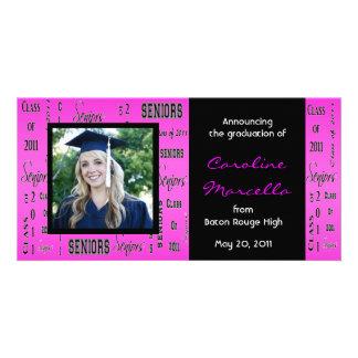 Class of 2011 Seniors Hot Pink Grad Announcement