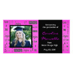 Class of 2011 Seniors Hot Pink Grad Announcement Photo Cards