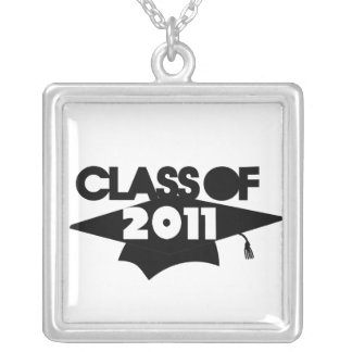 Class of 2011 square pendant necklace