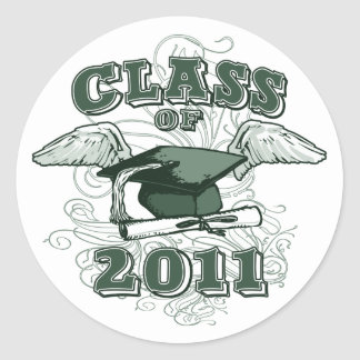 Class of 2011 round stickers