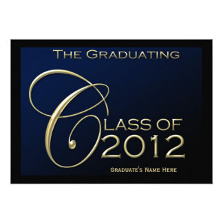 Class of 2012 5x7 Blue Graduation Announcement