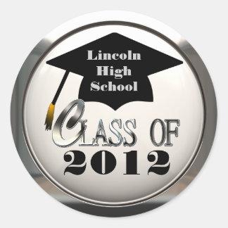 Class Of 2012 Add School Name Graduation Stickers
