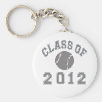 Class Of 2012 Baseball - Grey Basic Round Button Keychain