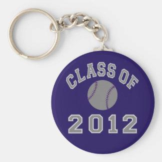 Class Of 2012 Baseball - Grey Keychain