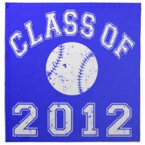 Class Of 2012 Baseball - White 2 Cloth Napkin