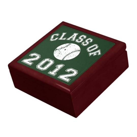 Class Of 2012 Baseball - White 2 Keepsake Box