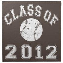 Class Of 2012 Baseball - White 2 Napkin