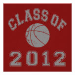 Class Of 2012 Basketball - Grey 2 Personalized Invites