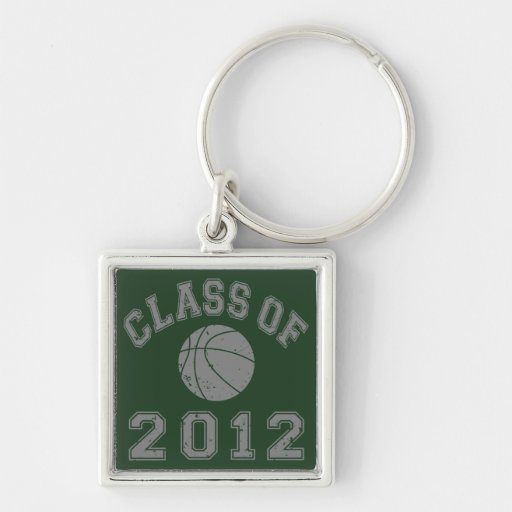 Class Of 2012 Basketball - Grey 2 Silver-Colored Square Keychain