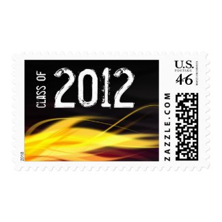 Class of 2012 Black and Red Flame Graduation stamp
