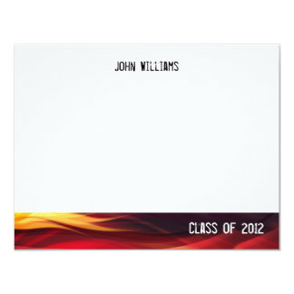Class of 2012 Black and Red Flames Thank You Card