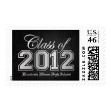 Class of 2012 Black and Silver zazzle_stamp