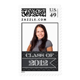 Class of 2012 Black Chevron Photograph Stamp