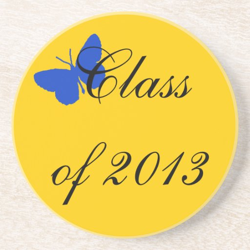 Class of 2012 - Blue and Gold Butterfly Coaster