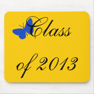 Class of 2012 - Blue and Gold Butterfly Mouse Pad