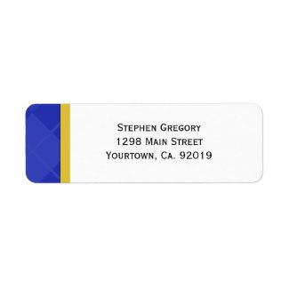 Class of 2012 Blue and Gold Graduation label