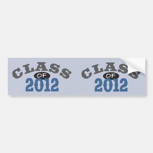 Class Of 2012 Blue Bumper Sticker