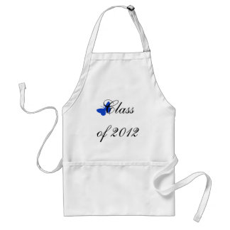 Class of 2012 - Blue Butterfly Adult Apron