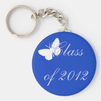 Class of 2012 - Blue Butterfly Keychain