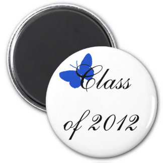 Class of 2012 - Blue Butterfly Magnet