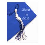 Class of 2012 Blue Cap Graduation Postcard