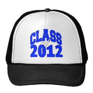 Class of 2012 blue mesh hats