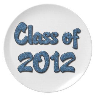 Class of 2012 - Blue Dinner Plate