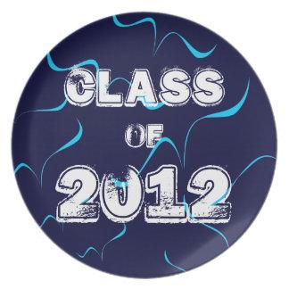 Class of 2012 (blue) dinner plates