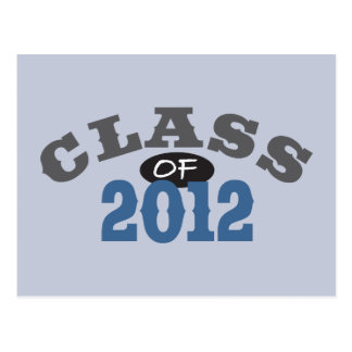 Class Of 2012 Blue Postcard