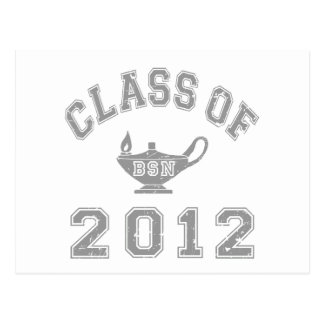 Class Of 2012 BSN - Grey Postcard