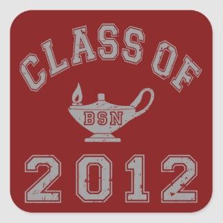 Class Of 2012 BSN - Grey Square Sticker