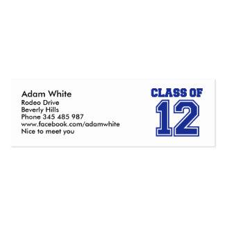 Class of 2012 business card templates