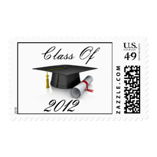 Class Of 2012 Cap and Diploma Postage Stamp