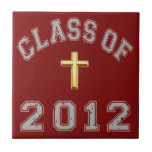 Class Of 2012 Christian Cross - Grey 2 Tile