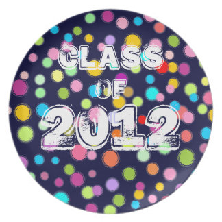 Class of 2012 (Colorful Dots) Party Plate