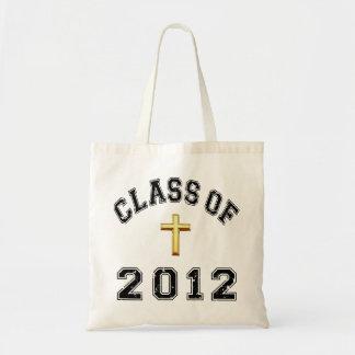 Class Of 2012 Cross  - Black 2 Tote Bag