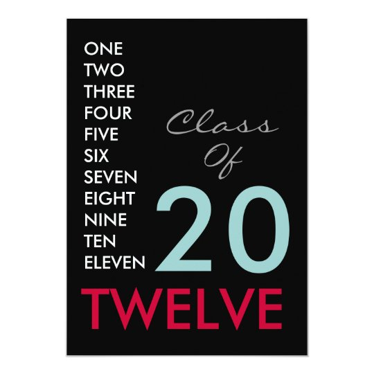 CLASS OF 2012 Custom Party Invitation (Black)