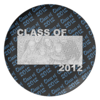 Class of 2012 Cut Out Photo Frame - Blue and Black Plate