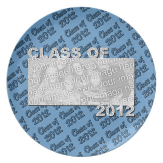 Class of 2012 Cut Out Photo Frame - Blue and Blue Dinner Plate